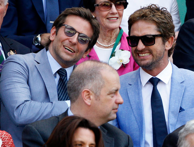 Bradley Cooper and Gerard Butler at Wimbledon