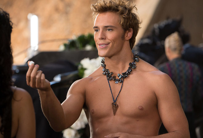 Sam Claflin as Finnick in 'Hunger Games: Catching Fire'