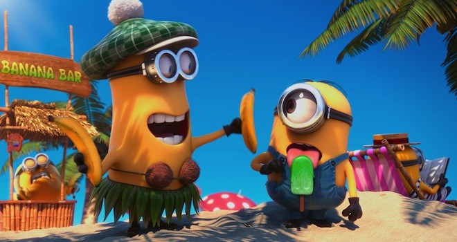 despicable me 2 minons Weekend Box Office: Despicable Me 2 Takes Top Spot Again, Grown Ups 2 Close Behind