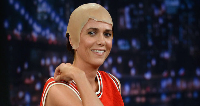 Kristen Wiig as Michael Jordan on 'Late Night'