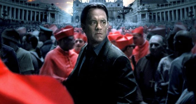 Tom Hanks on 'Angels & Demons' Poster