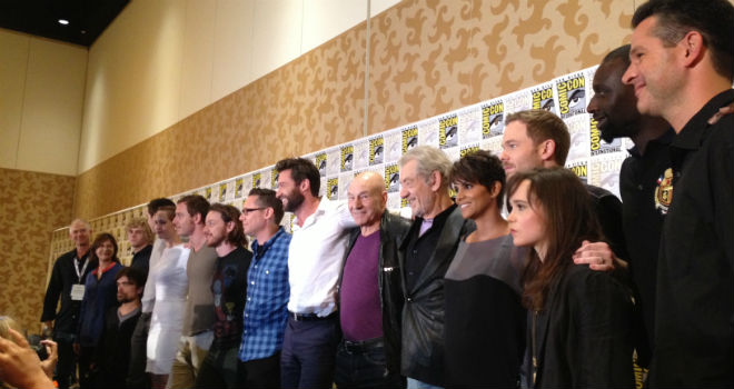 x man days of future past comic con article Here Is a Photo of the Cast of X Men: Days of Future Past at Comic Con 2013
