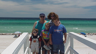 family and kids vacation at the beach