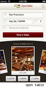 open table travel app