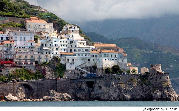 Amalfi Coast Italy map