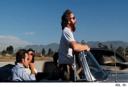 The Hangover convertible highway scene