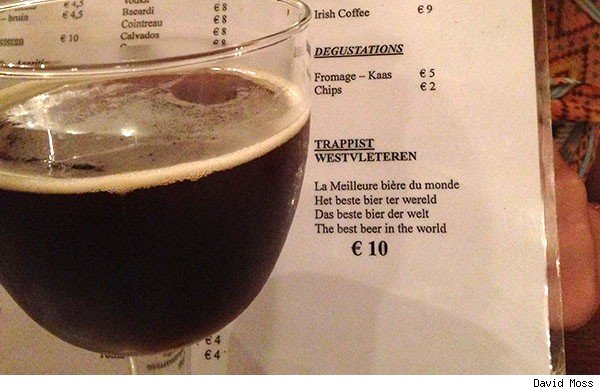 Westvleteren 12 best beer in the world menu