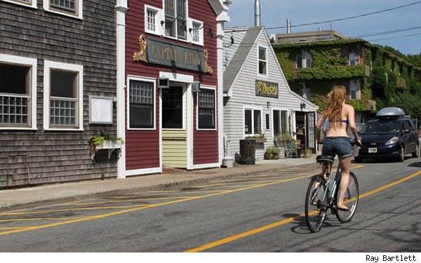 Cape Cod girl biking