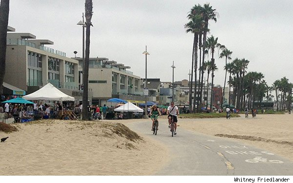 Venice Beach Los Angeles bike ride