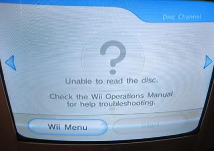 wii hardware problem disk scratching nintendo fan club gamespot rh gamespot com Wii Operations Manual System Setup unable to read disc check wii operations manual for help troubleshooting