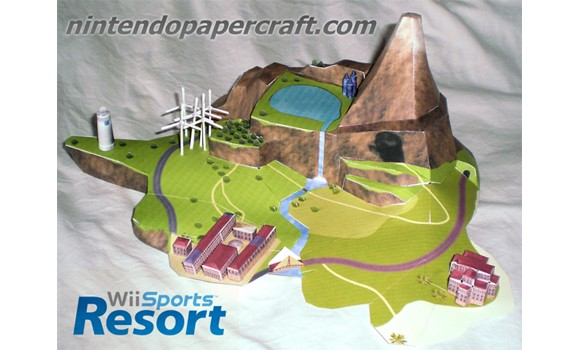 Nintendo Wii Sports Resort Wuhu Island Papercraft
