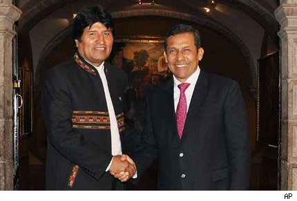 ollanta humala y evo morales