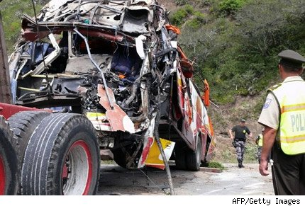 ecuador accidente autobus