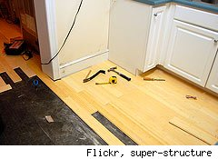bamboo floors are a green kitchen choice