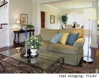home staging living room after