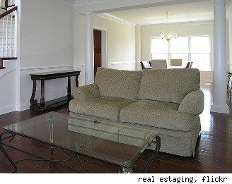 home staging living room before
