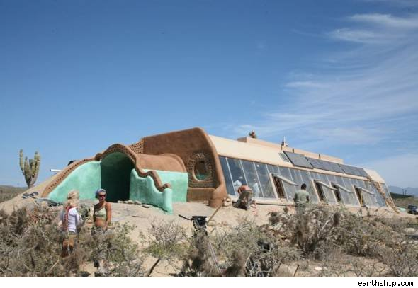 earthships New Mexico desert