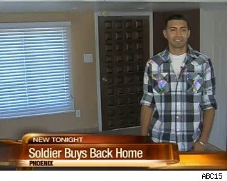 soldier buys back foreclosed home