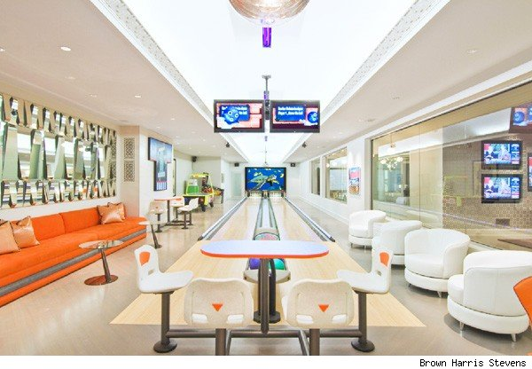 Hamptons home bowling alley