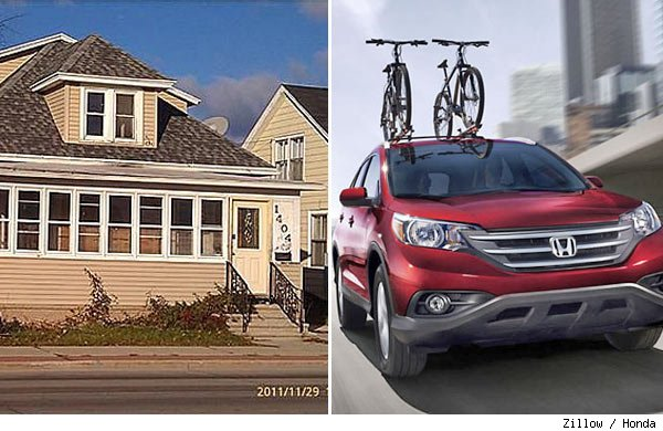 A house for the same price as a car