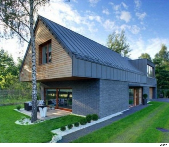 Modern Pitched Roof Modern Home Exteriors