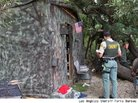 Homeless Man Robert Downs' Camouflaged Shack Shielded Him From Authorities for Months, Police Say