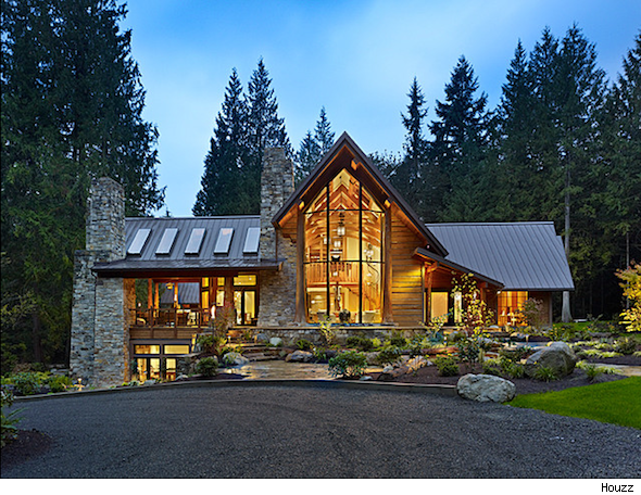 Mountain home style spotlight for Contemporary log home designs