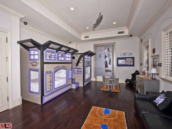 Adrienne maloof of 39 real housewives of beverly hills for Basketball bedroom designs