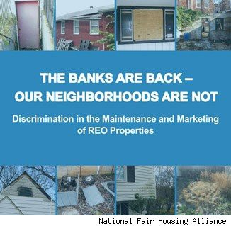 Bank of America and foreclosed homes, subject of National Fair Housing Alliance report