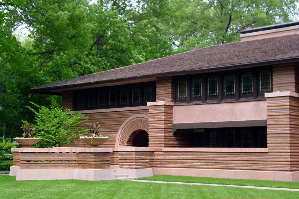 Frank lloyd wright prairie style homes for Prairie house designs