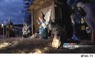 Controversial nativity scene in Texas