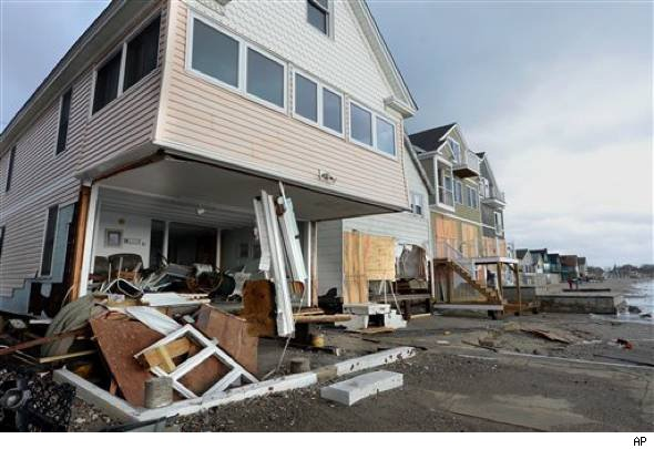 Hurricane Sandy damaged homes
