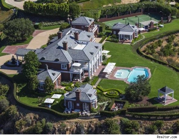 Britney spears can be your neighbor in wayne gretzky 39 s for Beverly hills celebrity homes map