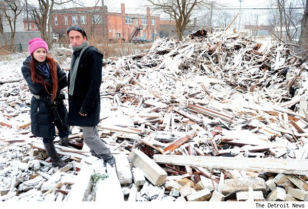 One Detroit house demolished included the home of Kristine Diven and Micho McAdow.