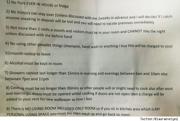 landlord from hell's demands