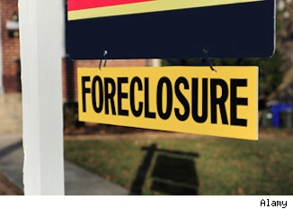 foreclosure home sale sign