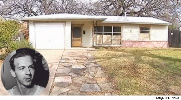 Lee Harvey Oswald and the home he rented in Irving,Texas