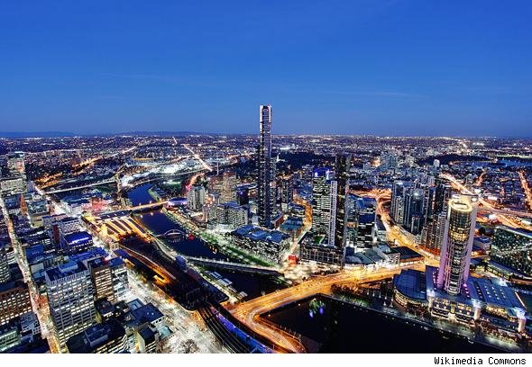 Expensive cities: Melbourne, Australia