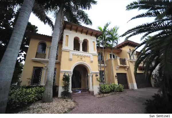 Alleged squatter Andre Barbosa purportedly lived in this Boca Raton, Fla., home