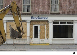 Brookstone storefront after Hurricane Sandy