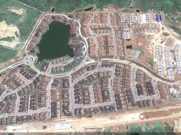 Unfinished Housing Development Empty Housing Developments