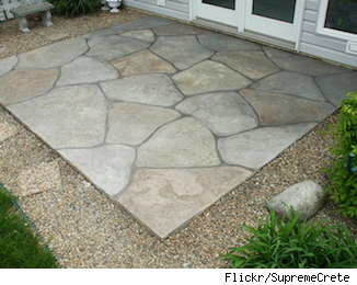 Want A Patio Try Stamped Concrete As A Low Cost Alternative