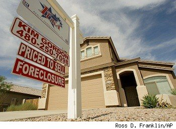 Foreclosure sign in front of Arizona home
