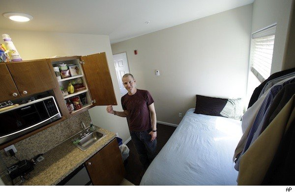 in seattle a backlash against tiny apartment craze. Black Bedroom Furniture Sets. Home Design Ideas