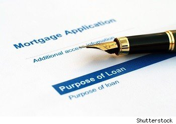 Mortgage contract and fountain pen