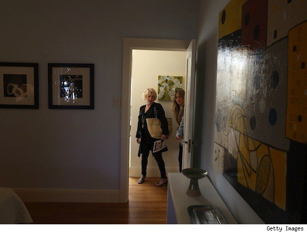 two women touring a house