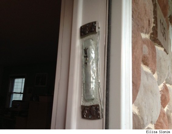 mezuzah on door frame