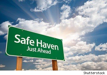 road sign saying safe haven just ahead