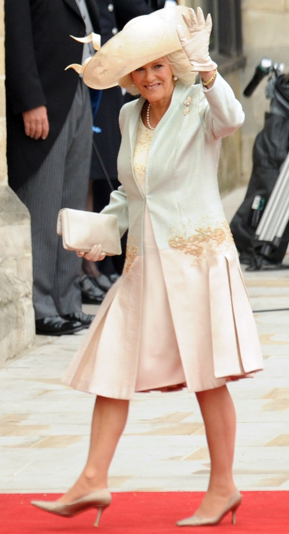 Camilla royal wedding dress anna valentine
