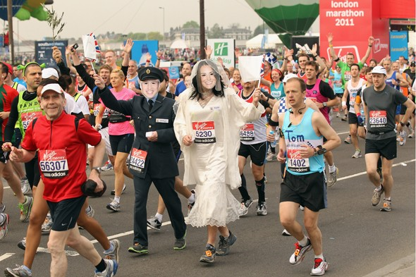 royal wedding london marathon